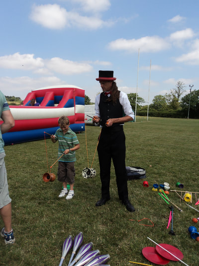Circus skills workshop family fun day