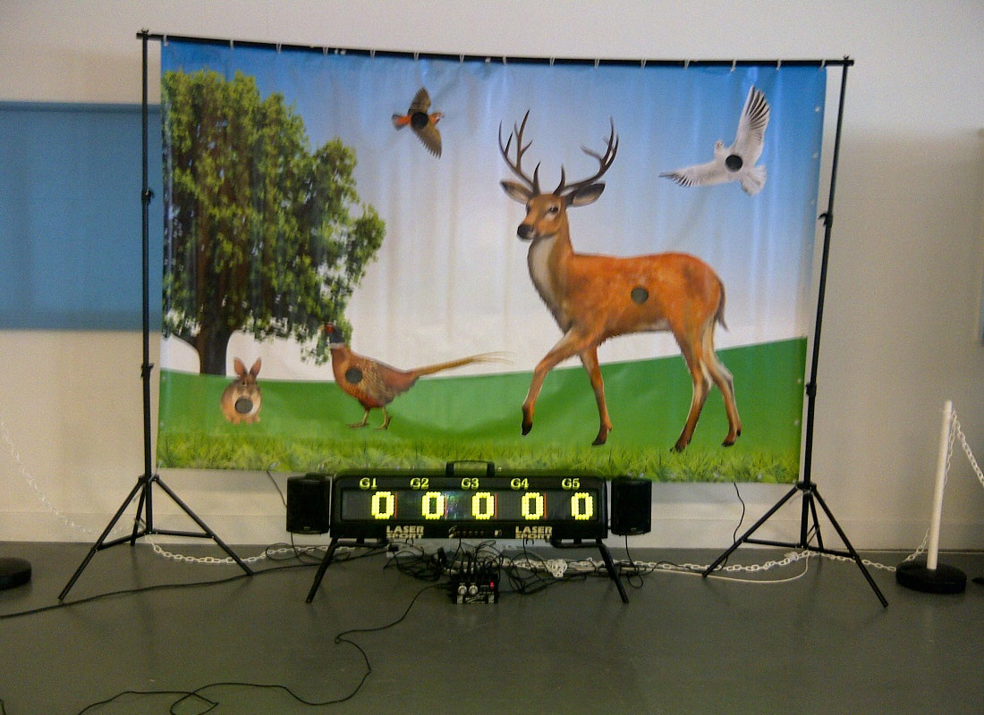 Indoor Laser Clay Shooting Simulator