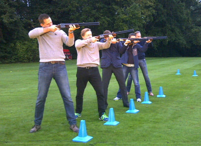 Laser clay shooting Herefordshire
