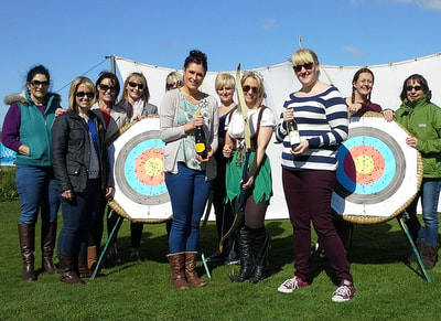 Archery for Lincoln hen do
