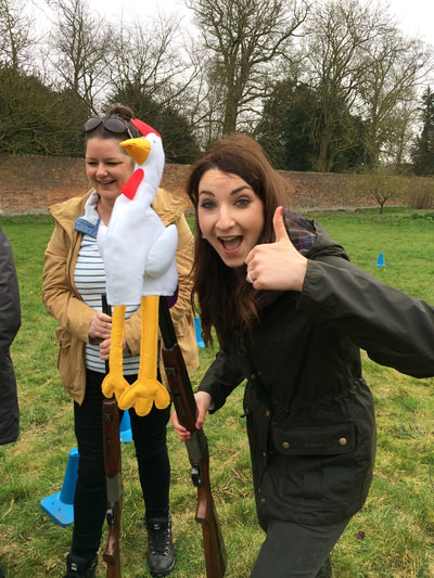 Hen party laser clay shooting activity
