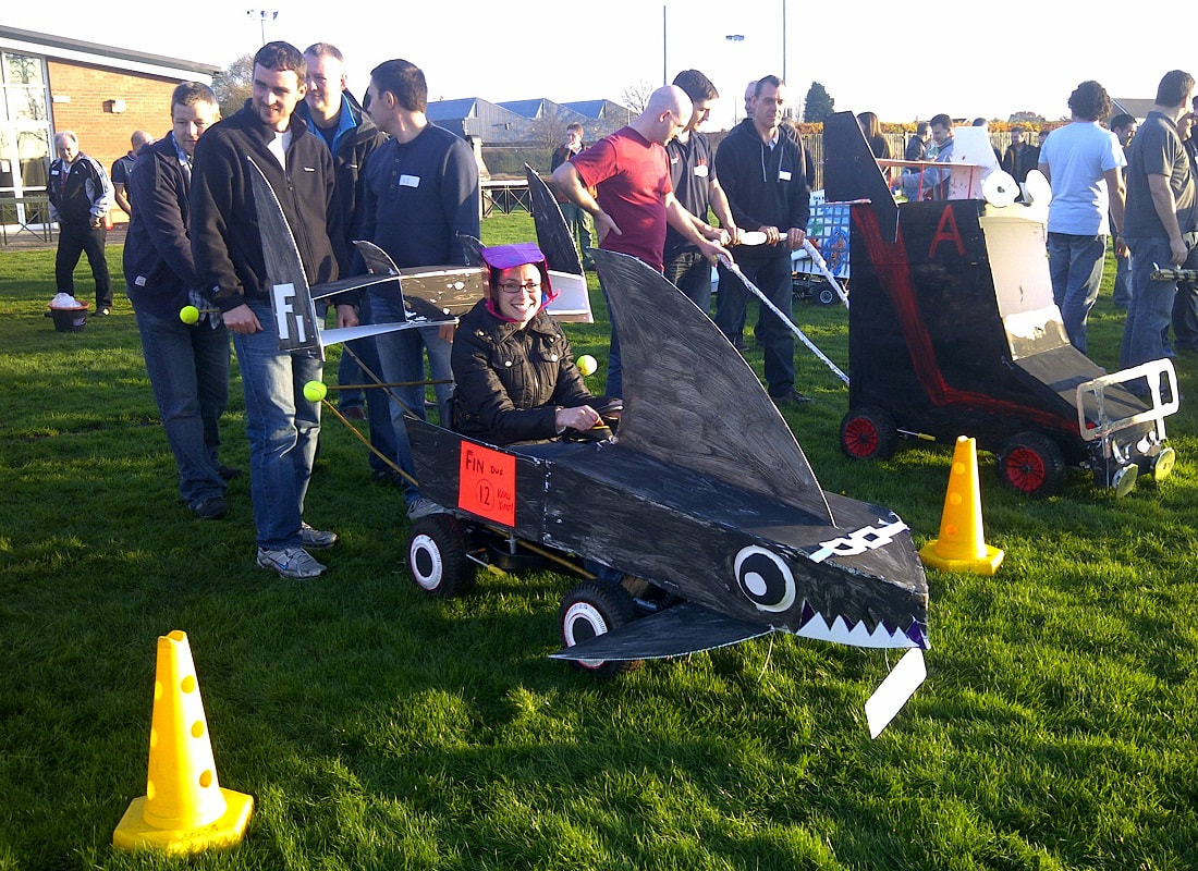 wacky races fun team building activity