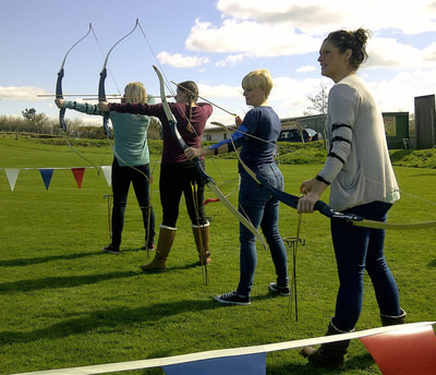 archery for stag do's and hen party groups in Wrexham